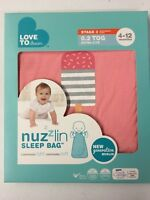 2 PACK - Love To Dream Nuzzlin Cotton Sleep Bag, Extra Light, Pink, 4-12 Months