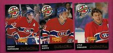 3 X RARE 1996-97 DURACELL MONTREAL CANADIENS  BELIVEAU TEAM CARD (INV#3099)