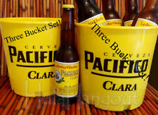Pacifico Beer Ice Bucket Set of 3. Brand New. -Free Expedited Shipping