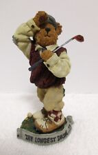 Boyd Bears Doug McDuffer Tee'd Off The Bearstone Collection Golfer Figurine