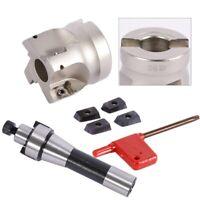 4Pcs APMT1604 Carbide Inserts 400R 50MM Face End Mill Cutter R8 FMB22 Arbor New