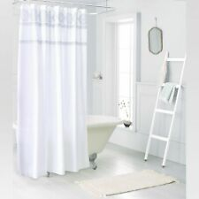Medallion Sheer Embroidery Shower Curtain White - Threshold 72x72