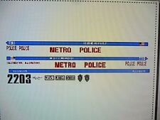 Hills Street Blues Television Show Police Car Decals 1:24