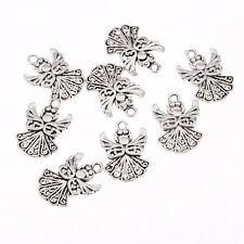 10pcs Angel Alloy Beads Charms Tibetan Silver Pendant DIY Bracelet 20*15mm