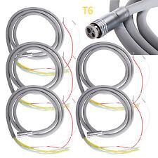 5*Dental Silicone Tube Hose 6 Hole for High Speed LED Fiber Optic Handpiece