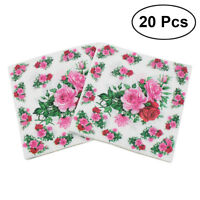 20pcs Flower Napkins Printed Lunch Dinner Floral Napkin Paper for Banquet Party