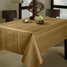 "Benson Mills Flow ""Spillproof"" 60-Inch by 120-Inch Fabric Tablecloth, Taupe , Ne"