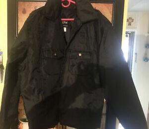 Golden Fleece Uniform OuterWear Bomber-Work Jacket 44R Black -Thinsulate insert