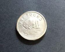 UK £ 1 una sterlina MEDAGLIA caccia Gibilterra TESCHIO 2007 Rara