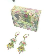 Earrings Lovely Michal NEGRIN Swarovski Crystals flowers made in Israel 2005A