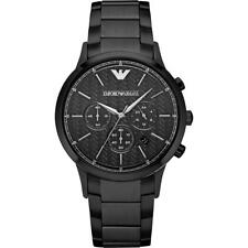NEW EMPORIO ARMANI AR2485 MENS BLACK WATCH - 2 YEARS WARRANTY - CERTIFICATE