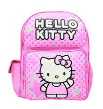 Sanrio Hello Kitty Star Pink Medium Backpack & School Book Bag for Kids Girls