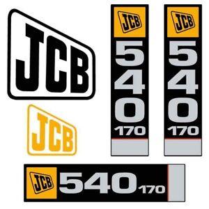 Decal Sticker Set JCB 540-170 Telehandler Decal Set
