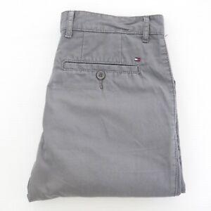 TOMMY HILFIGER Mens Chino Trousers Label Size W32xL32 * Grey 100% Cotton EUC