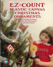 Ez-Count Christmas Ornaments in Plastic Canvas Boye No 7712 26 Projects 1982
