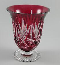 WMF Vase Kristall rot mit Fußsockel