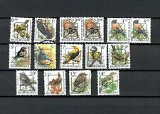 BELGIUM BELGIQUE SELECTION OF Used BIRDS OVERPRINTED STAMP  LOT (BELG 175)