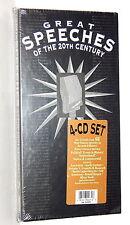 Great Speeches of the 20th Century ~ NEW 4-CD Box Set (1991, Rhino Word Beat)