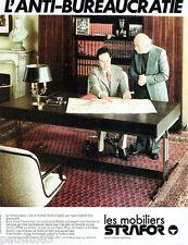 PUBLICITE ADVERTISING 115  1978  STRAFOR   mobilier bureau