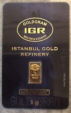 1 Gram IGR Gold Bar 999.9 Fine In Sealed Assay Card!