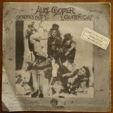 "ALICE COOPER SCHOOLS OUT ISRAELI ISRAEL ONLY PS 7"" 45 HEBREW COVER"