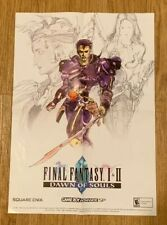 2004 Final Fantasy I & II Dawn of Souls GameBoy Advance SP Promo Insert Poster