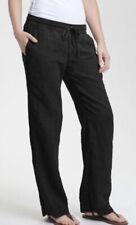 NWT $225 James Perse Black Gauzy Cotton & Linen Blend Tie Waist Pant Sz 3 XL 1X