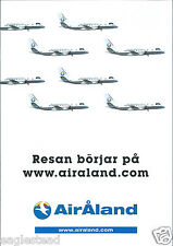 Airline Timetable - Air Aland - to - 28/10/06 - Swedish language (Finland)