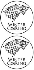 GAME OF THRONES WINTER IS COMING HOUSE STARK STICKER PAIR #4