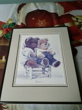 8 x 10 Brown Metal Frame With Glass framing teddy bears