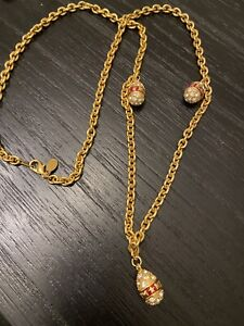 Joan Rivers Gold Egg Necklace Red Mm Beautiful Long