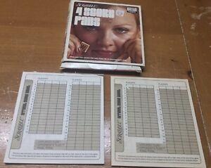 Vintage Scrabble Box w 2 Score Pads Selchow & Righter 1973