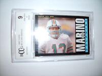 Dan Marino GRADED CARD!! Beckett BCCG 9 Near Mint!! 1985 Topps #314 Dolphins HOF