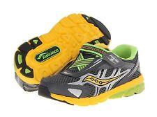 Saucony NON- TIE Sneakers Grey/Yellow Infants  Little Boys Size 4 1/2 M