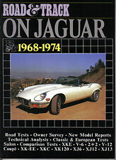 JAGUAR 1968-1974 XKE V6 V12 xkee xkc XK120 XJ6 XJ12 XJ13 road & track essais routiers