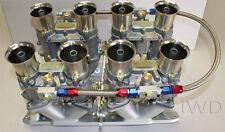 Small Block Chevy 48IDA Weber kit w/manifold, linkage, & 4 genuine 48 IDA webers