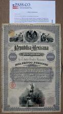 Mexico Republica Mexicana 1885 Christopher Columbus £200/$1,000 Mexican Bond