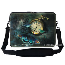 "17.3"" Laptop Computer Sleeve Case Bag w Hidden Handle & Shoulder Strap 773"
