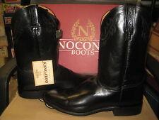 Nocona Boots Mens NB4001 Black Milano Kangaroo Size 8 EE NEW