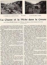 23 CHASSE ET PECHE DANS LA CREUSE PAR OCTAVE POLIER ARTICLE DE PRESSE 1932