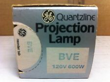 GE Quartzline Projector Lamp BVE 600W 120V Projection Bulb
