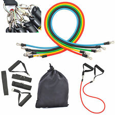 11Pcs Resistance Bands Yoga Pilates Abs Fitness Exercise Tube Kit Tension Ropes