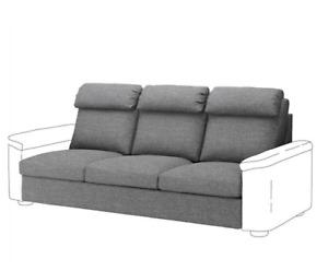 NEW IKEA LIDHULT Slipcover Cover 3 Seat Sofa Section Lejde Gray Black 904.050.77