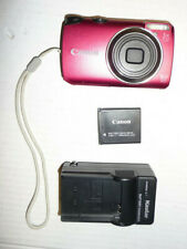 Canon PowerShot A3300 IS 16.0MP Digital Camera Red TESTED