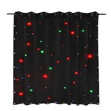 LED Stage Drape Star Cloth 2x3m Curtain Backdrop Background Flame Retarded DJ