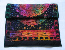 Baby Quilt Multicolor Tie Dye Zodiac Mandala Coverlet With 100% Cotton Filled