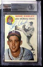 1954 TOPPS #59 GENE CONLEY RARE BAS BECKETT SIGNED CARD AUTOGRAPHED AUTO !