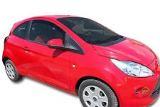 FORD KA 3 -DOOR  2009 - up SET OF FRONT WIND DEFLECTORS  2pc TINTED HEKO