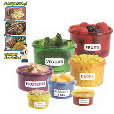 Food Storage Box 7pcs/Set with Lid Portion Control Colorful Containers