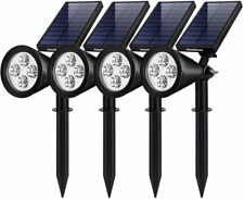 Solar Lights Outdoor Waterproof Solar Landscape Spotlights Wall Light 4Pack